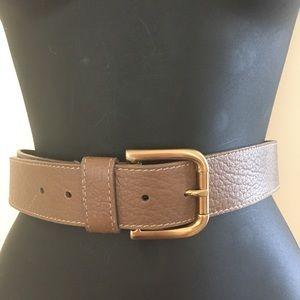 Talbots  Contour Light Brown Pebbled Leather Belt